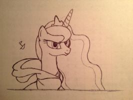 Princess of the Night with a Hoodie Sketch by CaptainBoat