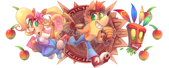 TAZATACHAN-Crash bandicoot by Sony-Shock