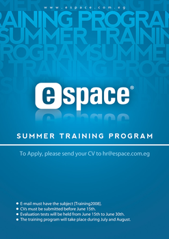 eSpace training program poster by ramezmohamed