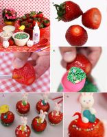 Tutorial for Spring Strawberry Delight by theresahelmer