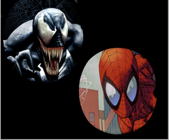Spider-man and Venom Icons by money666mo