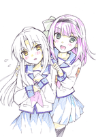 angel beats yuri and kaname by Chase-DEVIL-Weaver