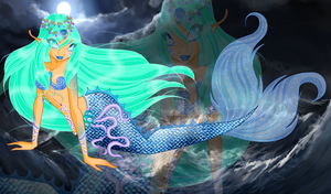 CE:'When storm comes, wake up the water demons...' by AshianaAquaris