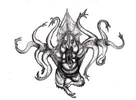 Lovecraft - Hindu Idol Creature, Witch House by KingOvRats