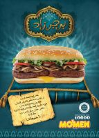 mo'men burger: burgerzad ad by marwael