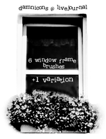 window frame brushes by Sarah-Dipity