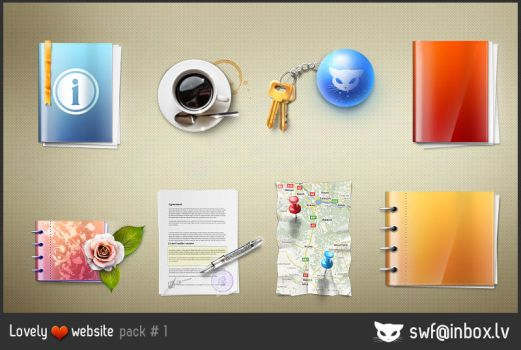 Lovely website icons pack 1 by lazymau
