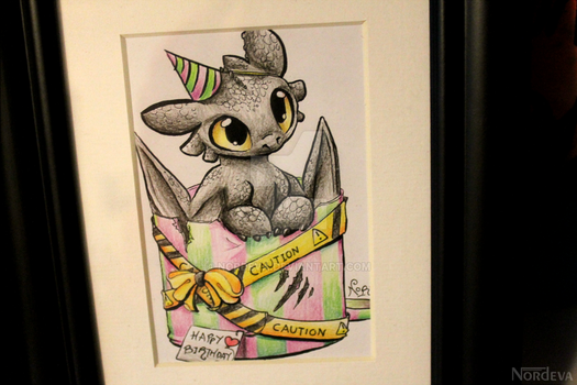Toothless bday card by Nordeva