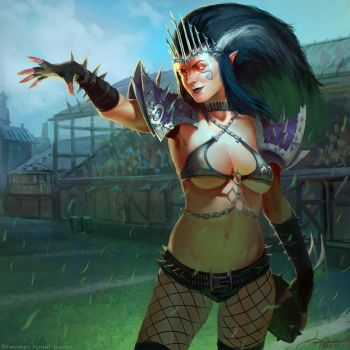 Blood Bowl-Queen Nefaria by arvalis