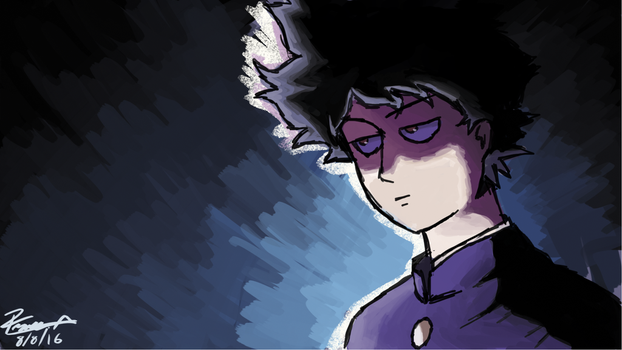 Mob in 100% D: from mob psycho 100 by franciscoo03