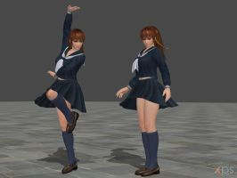 DOA5 Phase 4 Costume 31 Newcomer School by rolance