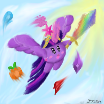 Alicorn Twilight Kirby by jrk08004