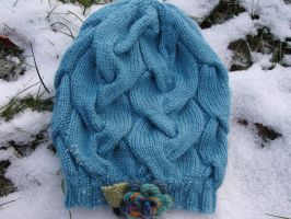 Elegant Four Seasons Hand Knit cable Hat,2nd photo by noisypixie