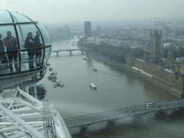 On the London Eye by abbierose