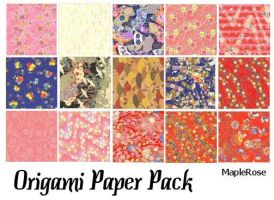 Origami Paper Pack by MapleRose-stock