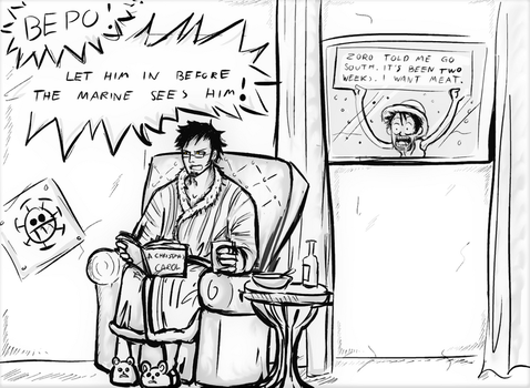 Luffy and Law - Lost in Winterland! by Tamagi