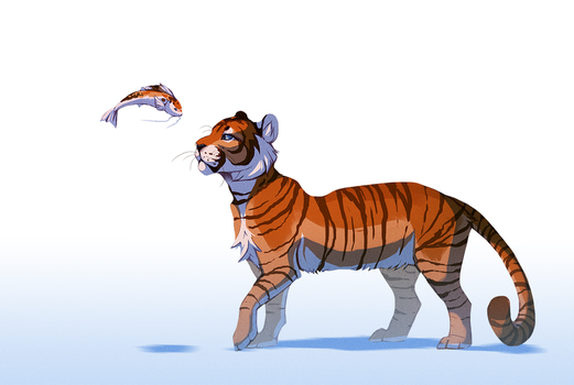 Tiger Koi by Daesiy