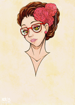 + Pretty Hipster Girl + by tea-bug