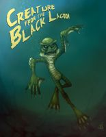 creature from the black lagoon by HelverAsbeth