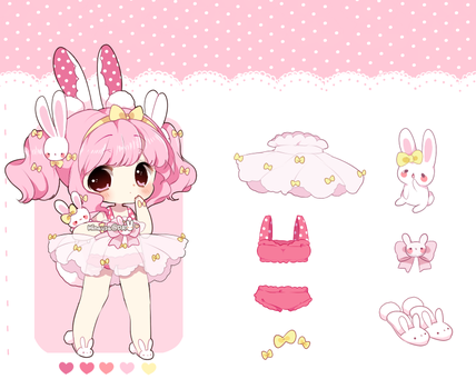 Cotton Candy Bunny: Auction CLOSED by Hinausa