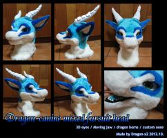 Dragon-canine mixed fursuit head [sold] by dragon-x2