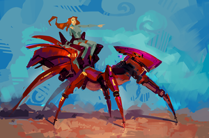 Ant rider by onionsalad