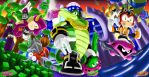 Team Chaotix on Carnival Island Zones by DR-Studios