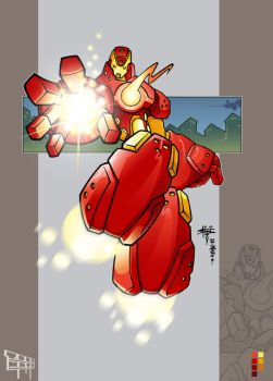 Iron Man collabo by kwinz