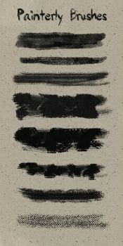 Painterly Brushes by LostAnastacia