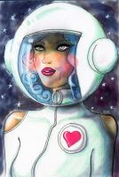 lovely astronaut by psychotic-cheshire