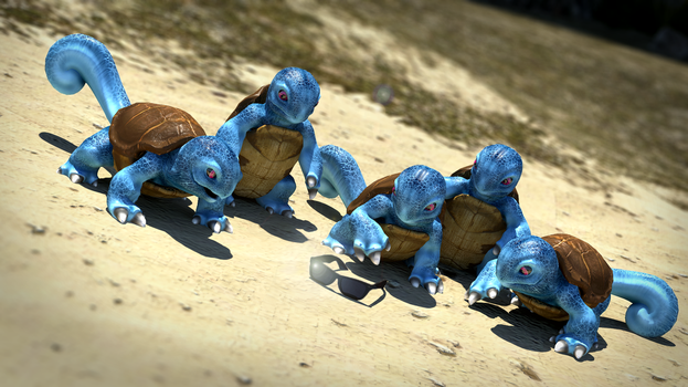 Squirtle Squad Origin by Prophet-Blaq