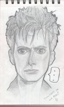 David Tennant as The Doctor by BansheeInTheOrchard