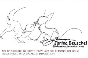 Sketchtes for Sale -ADDED A NEW ONE by JB-Pawstep