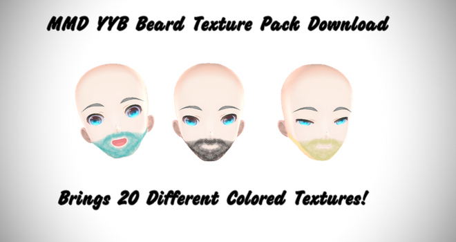 MMD YYB Beard Texture Pack 1 Download by dianita98