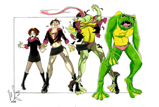 Transformation sequences by matthewjamesrann on deviantart for Frog transformation