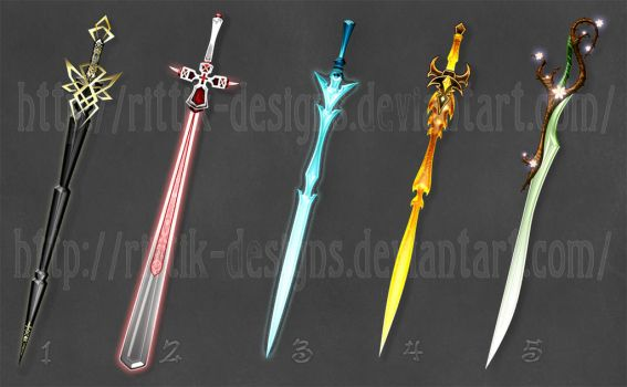 Swords adopts 2 (CLOSED) by Rittik-Designs