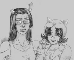 Equius and Nepeta by PenWinter