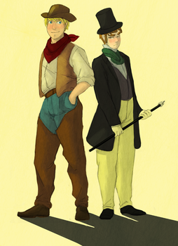 APH- Cowboys and Gentlemen by Shigirl