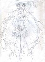 Sailor Cosmos Sketch by Yamigirl21