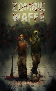 Zombie Waffe Poster by theLazyLion