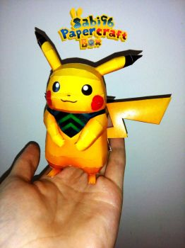 Mystery Dungeon Pikachu Papercraft by Sabi996