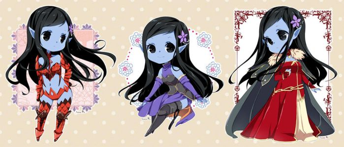 Chibi commission batch 24 by inma