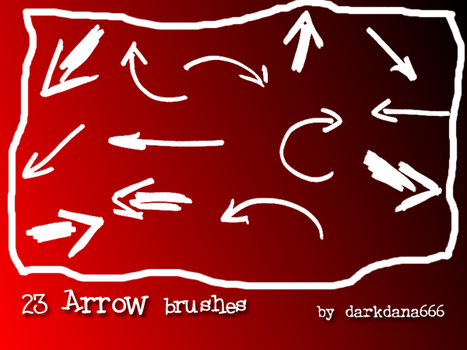 Arrow, pointers brushes by darkdana666