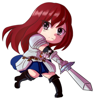 Erza chibi by ThaIssing