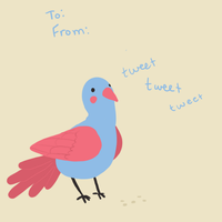 Bird Card by acember
