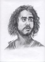 Sayid - LOST Drawing Scanned by MickeyTheSaviour