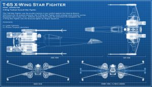 X-Wing Blue Print by ChaosHour