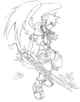 Winged Sora Cleaned by GrayPaladin
