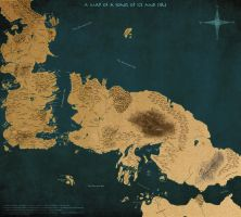 A Map of A Song of Ice and Fire Version 2 by scrollsofaryavart