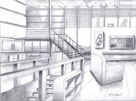 Abstract perspective drawing by drawer888 on deviantart - How to draw a living room in perspective ...